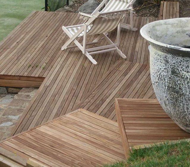 Silvertop Ash decking creating beautiful angles decking radialtimber hardwood architecturehellip