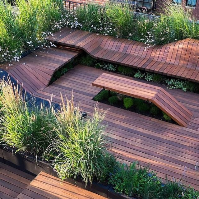 DECK INSPIRATION Check out the curves of this stunning deckhellip