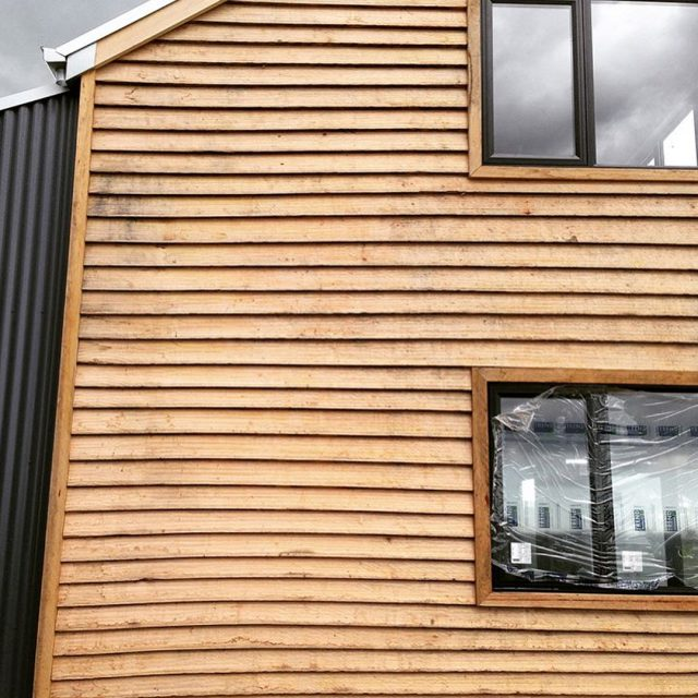 Radial sawn natural edge weatherboards work perfectly for a stablehellip