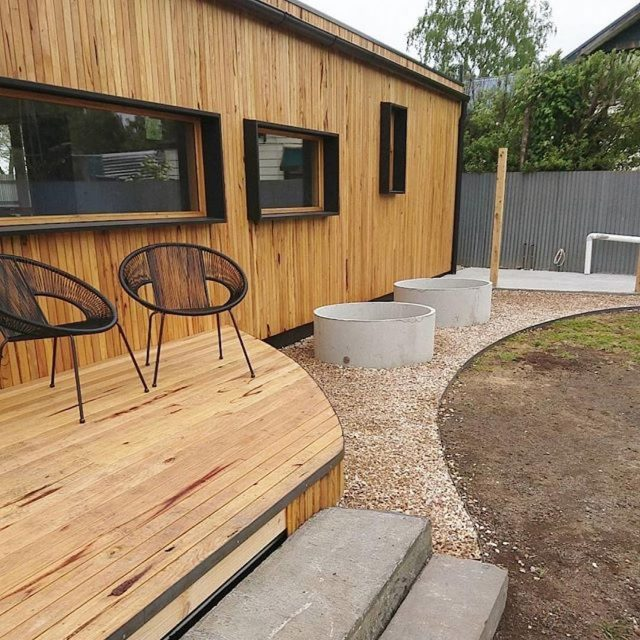 Check out this slick project that features Radial Timbers sustainablehellip
